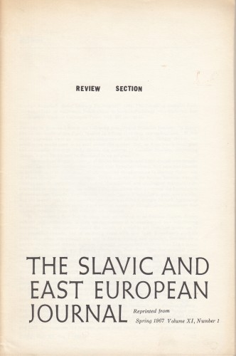 The Slavic and East European Journal : review section.
