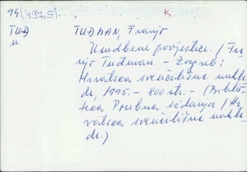 Usudbene povjestice / Franjo Tuđman.