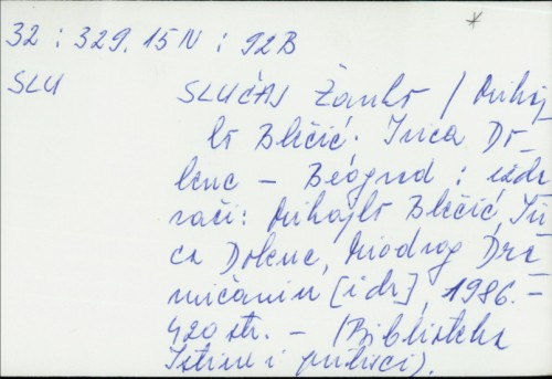 Slučaj Žanko / priredili Mihailo Blečić, Ivica Dolenc.