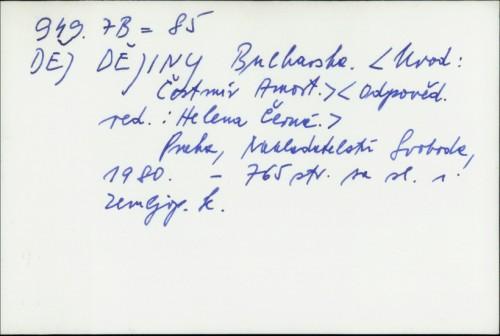 Dějiny Bulharska / [uvod Čestmír Amort]