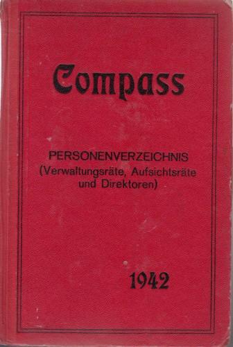 Compass : Finanzielles Jahrbuch 1942 ; Personenverzeichnis (Verwaltungsrate, aufsichtsrate und direktoren).