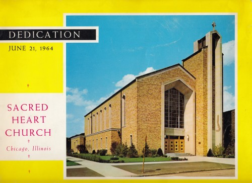 Dedication Sacred Heart Church : June 21, 1964.