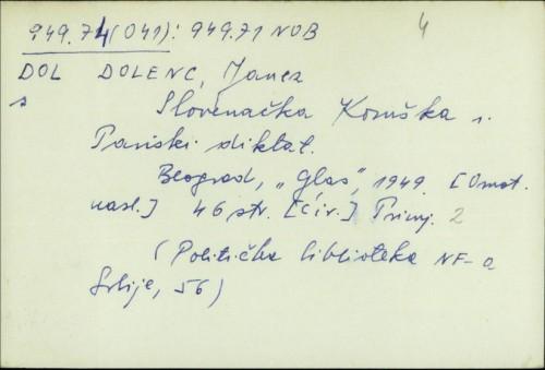 Slovenačka Koruška i Pariski diktat / Janez Dolenc