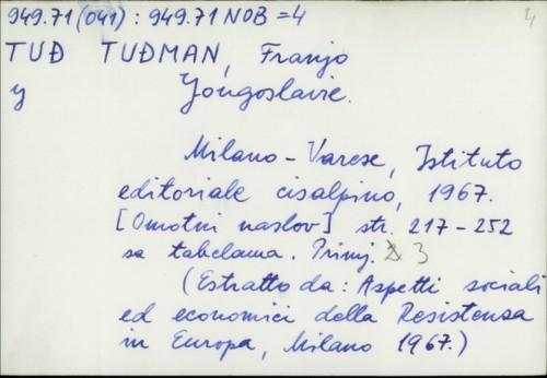 Yougoslavie / Franjo Tuđman