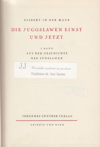 Aus der Geschichte der Suedslaven.