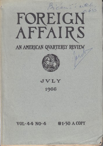 Foreign Affairs : an American Qvarterly Review / editor Hamilton Fish Armstrong.