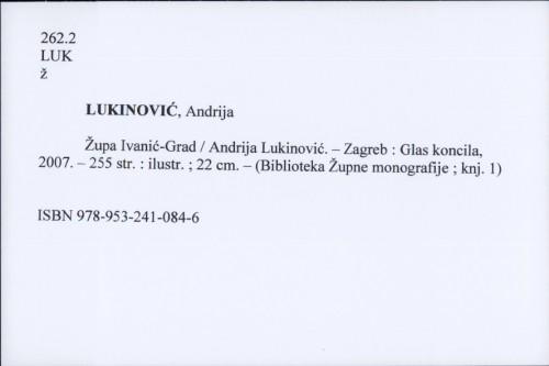 Župa Ivanić-Grad / Andrija Lukinović.