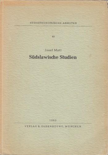 Südslawische Studien.