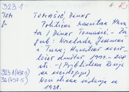 Politički razvitak Hrvata / Dinko Tomašić.