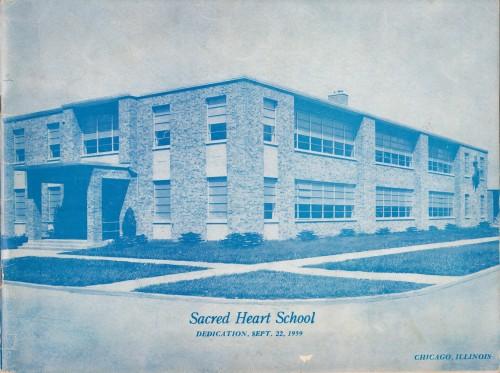 Uspomena na otvorenje nove škole hrvatske župe Presvetog srca Isusova : Chicago, Illinois 22. rujna 1959. / [Myron Lasić].