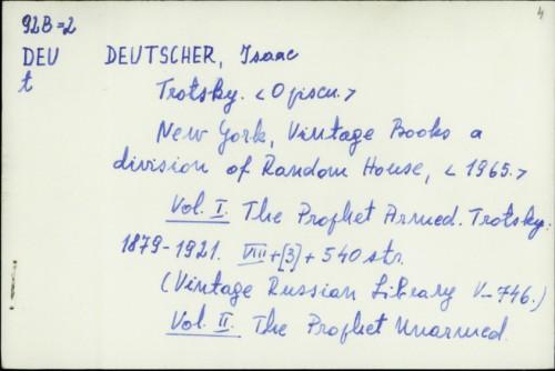 Trotsky / Isaac Deutscher