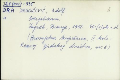 Socijalizam / Adolf Dragičević