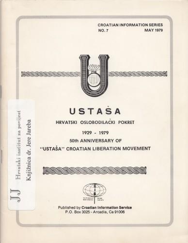 Ustaša : Hrvatski oslobodilački pokret 1929-1979 - 50th Anniversary of