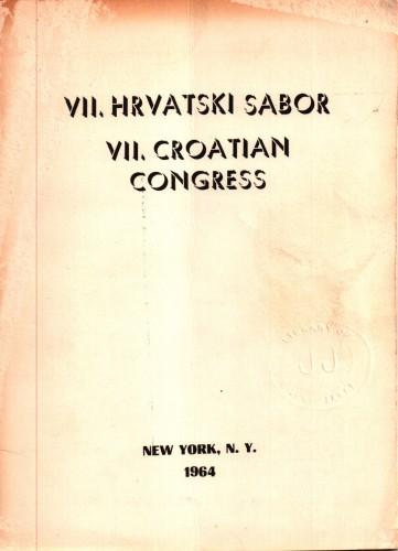VII. Hrvatski sabor = VII. Croatian congress.
