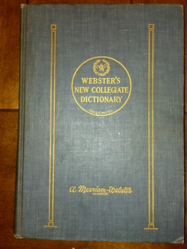 Webster's new collegiate dictionary : A Merriam-Webster.