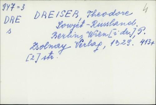 Sovjet Russland / Theodore Dreiser