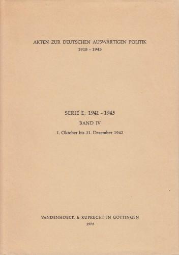 Band IV : 1. Oktober bis 31. Dezember 1942.