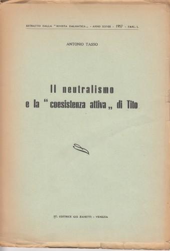 Il neutralismo e la