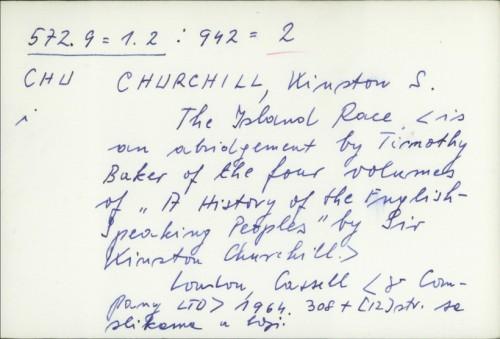 The Island Race / Winston Spencer Churchill