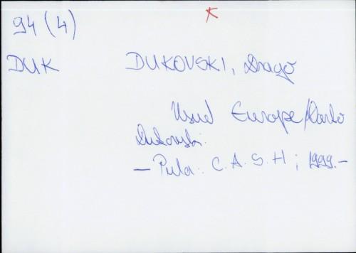Usud Europe / Drago Dukovski