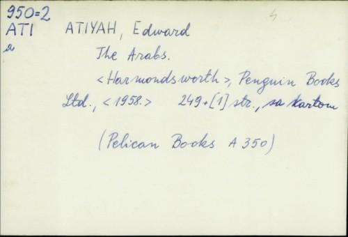 The Arabs / Edward Atiyah