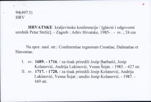 Hrvatske kraljevinske konferencije /