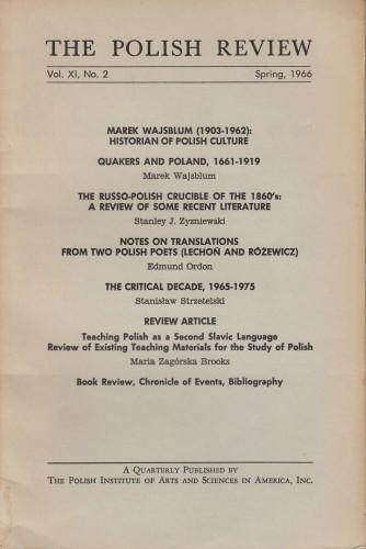 The Polish Review / [Editor Ludowik Krzyzanowski].
