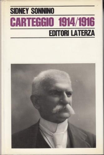 Carteggio / Sidney Sonnino ; a cura di Pietro Pastorelli.