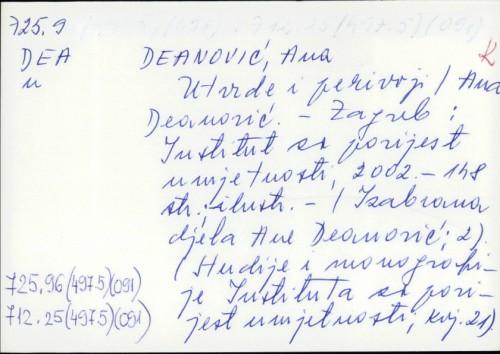 Utvrde i perivoji / Ana Deanović