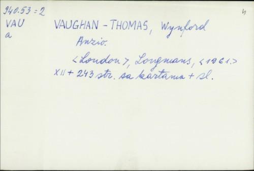 Anzio / Wynford Vaughan-Thomas