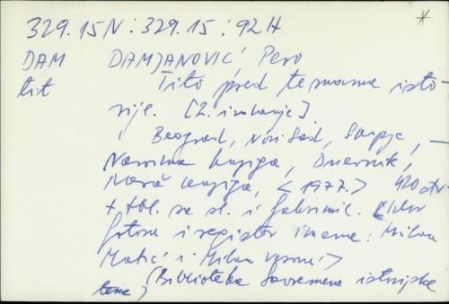 Tito pred temama istorije [2. izdanje] / Pero Damjanović