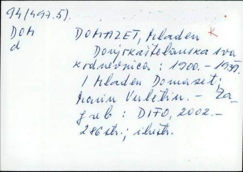 Donjokaštelanska svakodnevnica : 1900.-1939. / Mladen Domazet